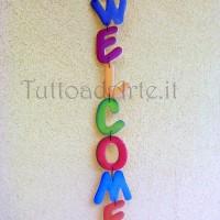Scritta Welcome coccinella
