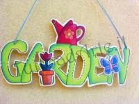 Scritta Garden dipinta a mano